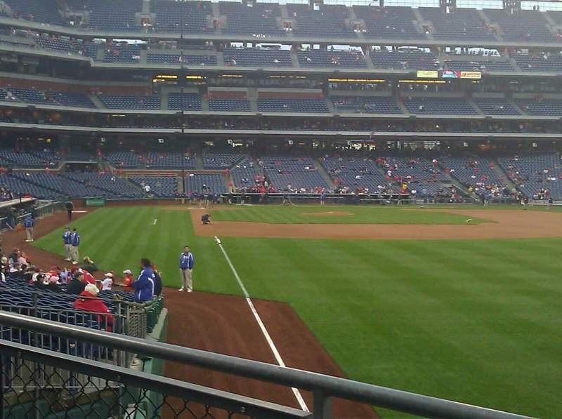 Seating view for Citizens Bank Park Section 107 Row 5 Seat 7