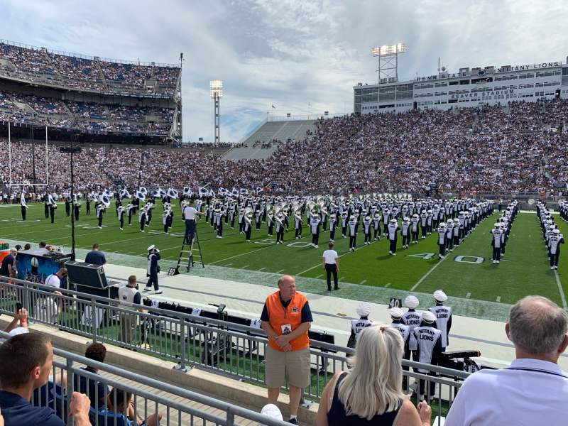 Seating view for Beaver Stadium Section EF Row G