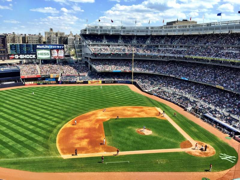 Seating view for Yankee Stadium Section 425 Row 2 Seat 1