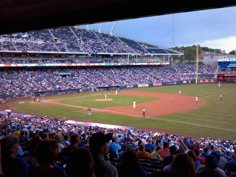 Seating view for Kauffman Stadium Section 241 Row PP Seat 6