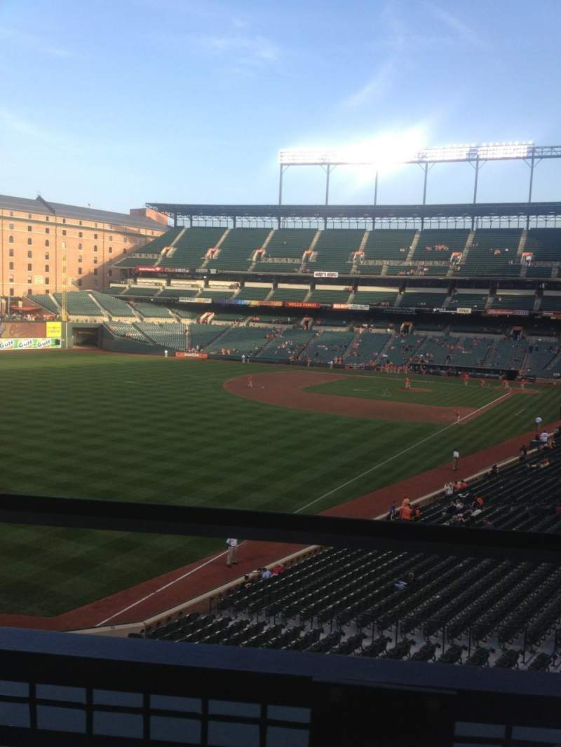 Seating view for Oriole Park at Camden Yards Section 272 Row 1 Seat 7