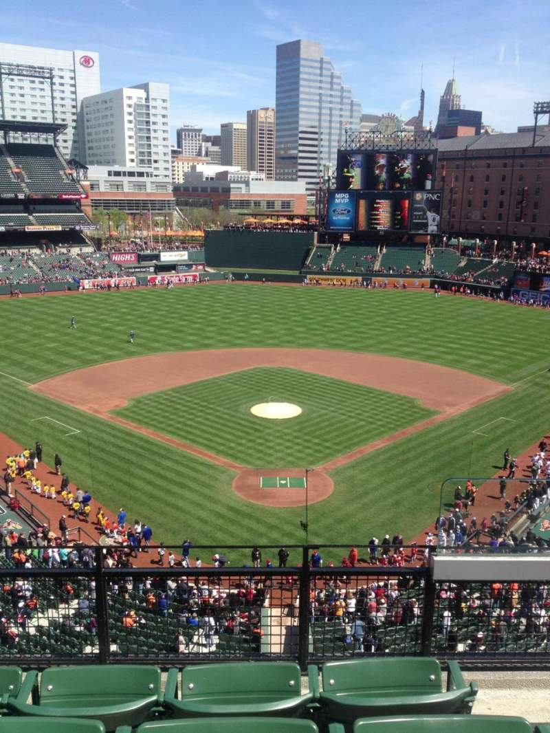 Seating view for Oriole Park at Camden Yards Section 338 Row 4 Seat 2
