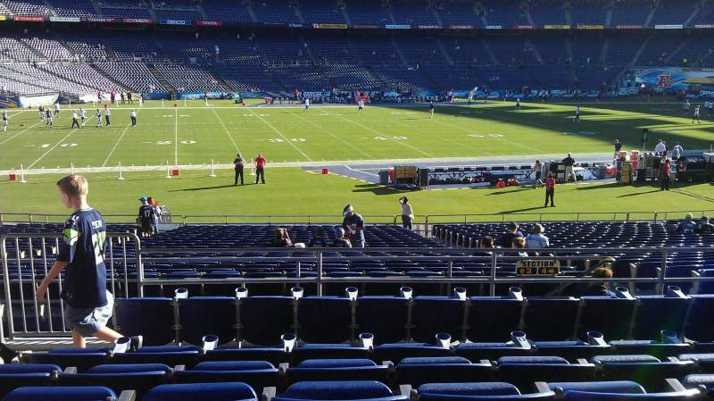 Seating view for Qualcomm Stadium Section P3 Row 6 Seat 4
