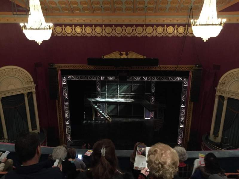 Seating view for National Theatre (DC) Section Balc Row F Seat 105
