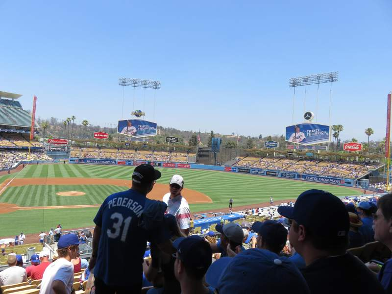 Seating view for Dodger Stadium Section 124LG Row L Seat 3