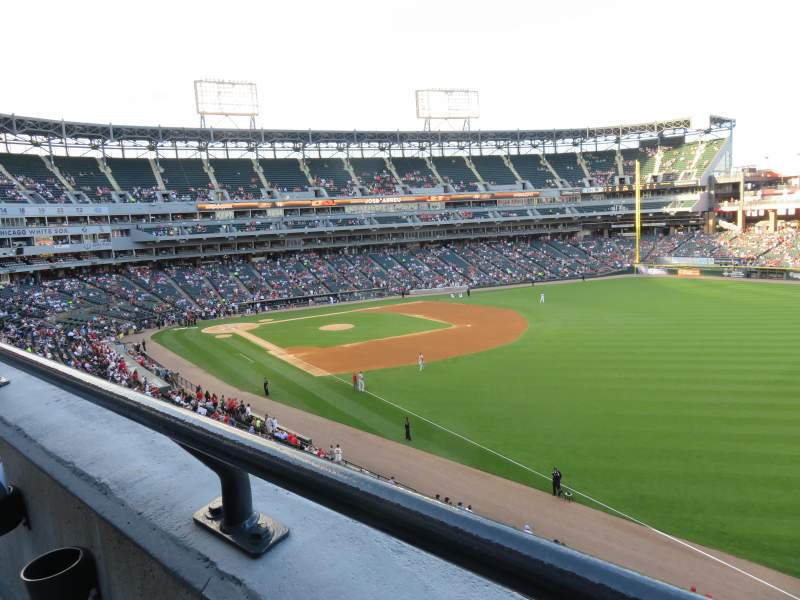 Seating view for Guaranteed Rate Field Section 312 Row 1 Seat 10