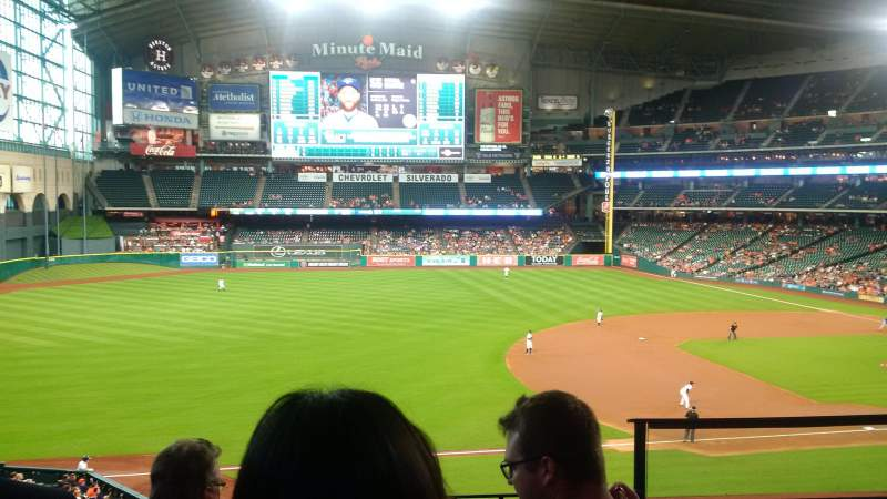Seating view for Minute Maid Park Section 209 Row 4 Seat 14