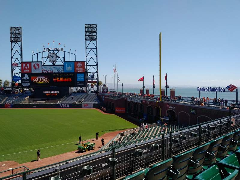 Seating view for AT&T Park Section 205 Row C Seat 16