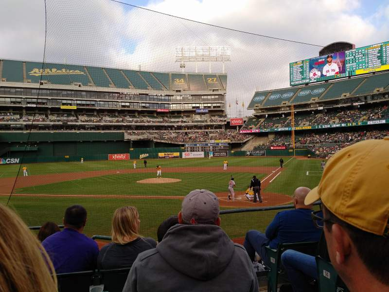 Seating view for Oakland Alameda Coliseum Section 119 Row 17 Seat 2