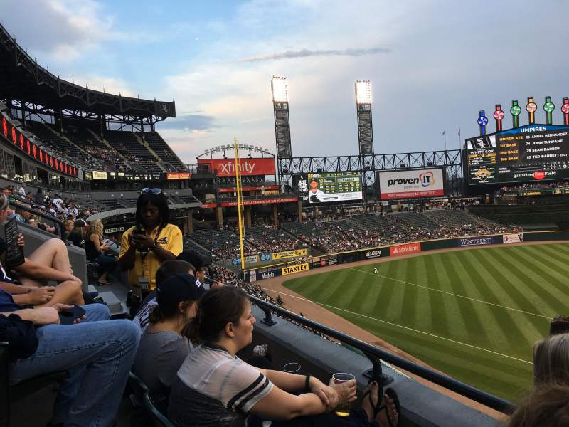 Seating view for Guaranteed Rate Field Section 338 Row 2 Seat 7
