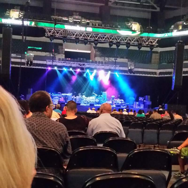 Seating view for Bankers Life Fieldhouse Section F3 Row 7 Seat 43