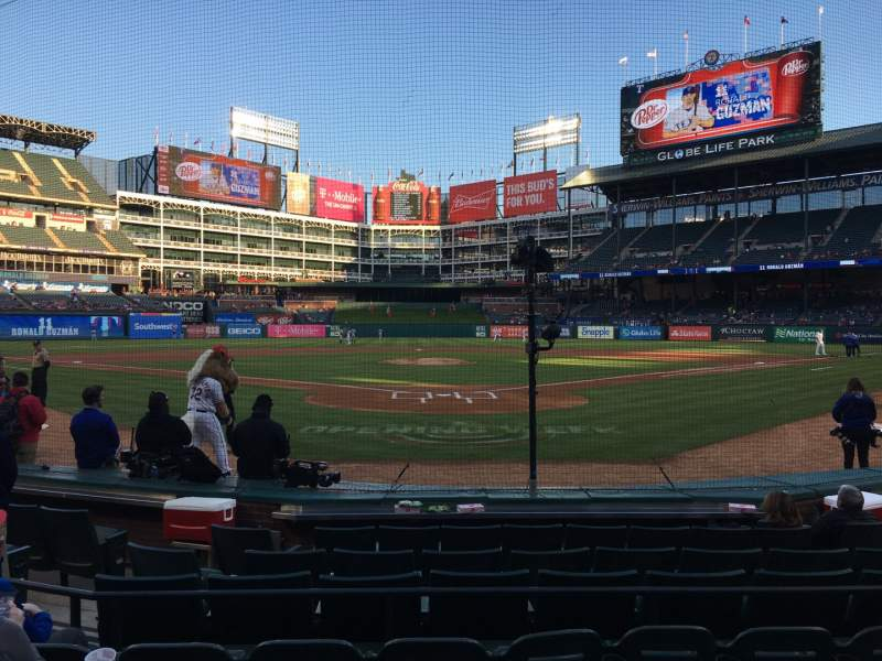 Seating view for Globe Life Park in Arlington Section 25 Row 5 Seat 8