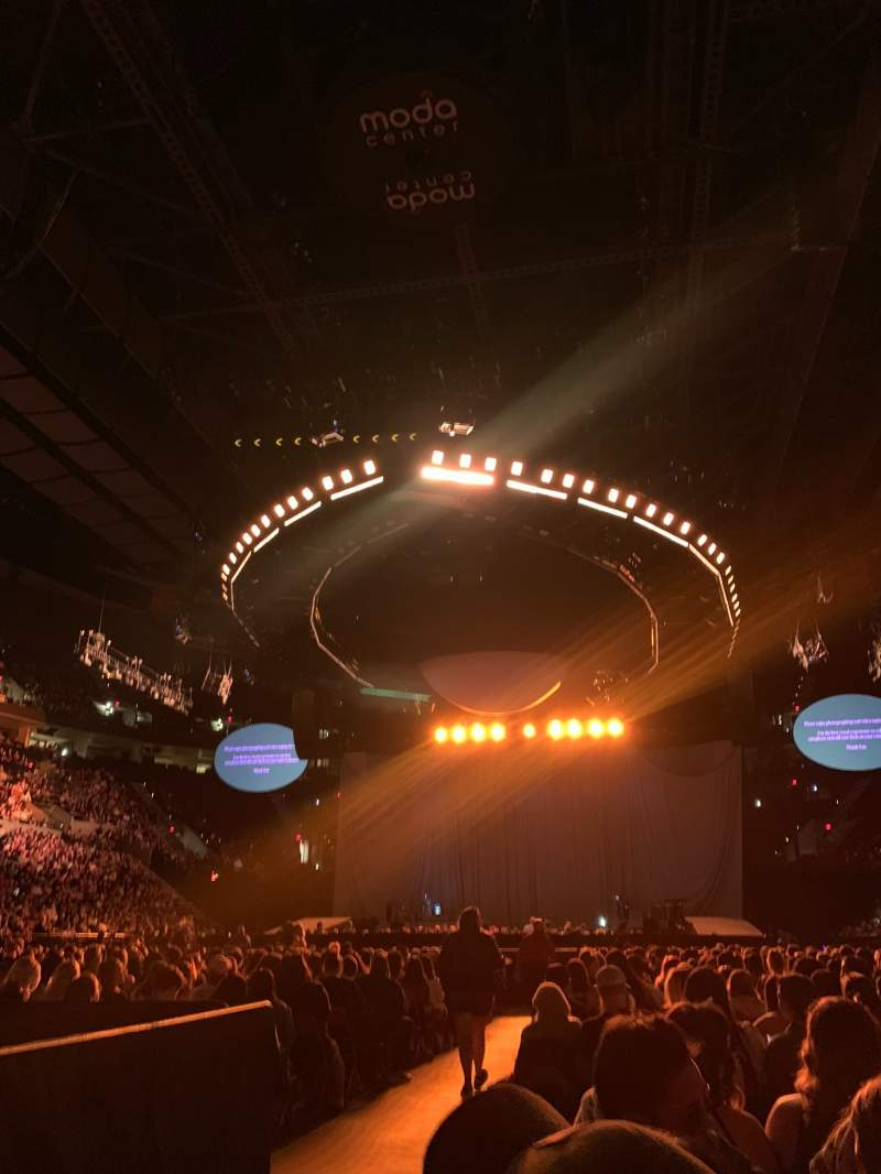Seating view for Moda Center Section Floor Row 43 Seat 10