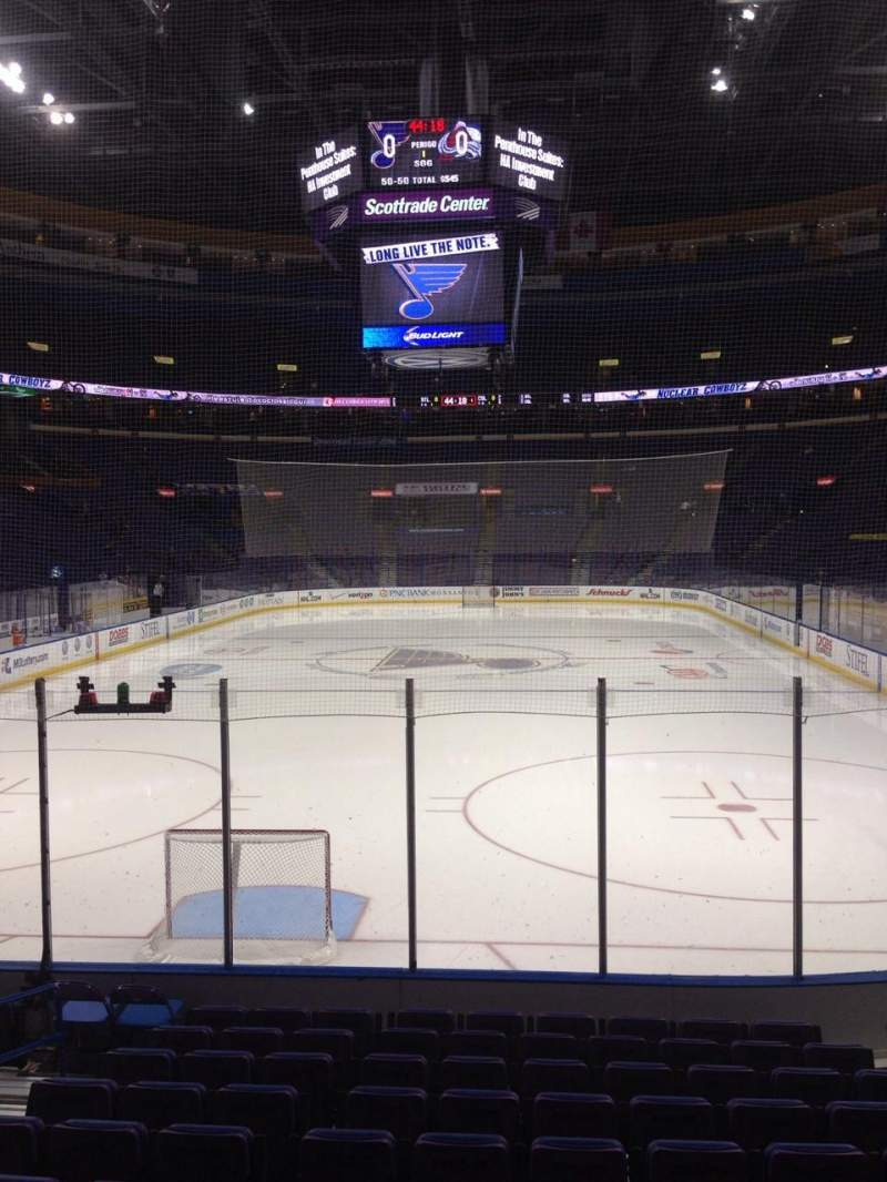 Seating view for Scottrade Center Section 122 Row L Seat 7