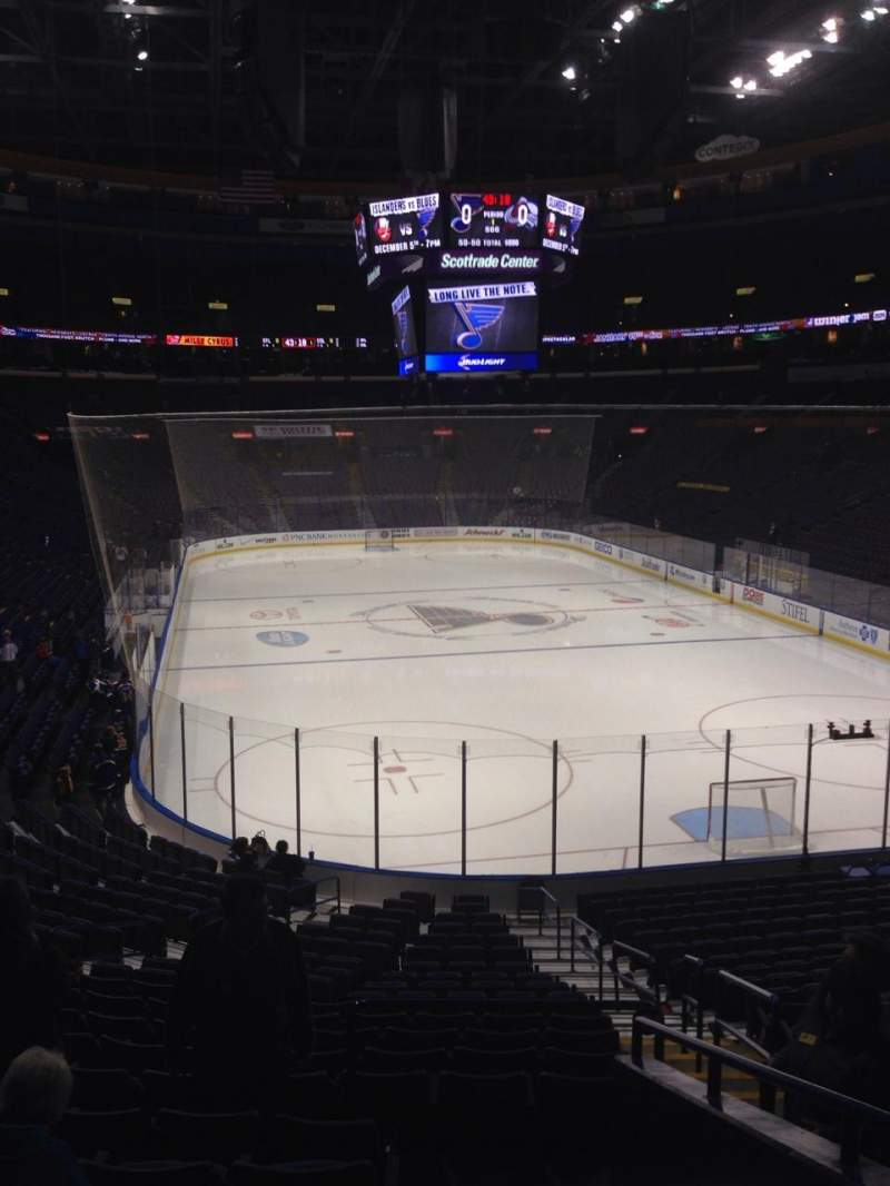 Seating view for Scottrade Center Section 124 Row Aa Seat 1