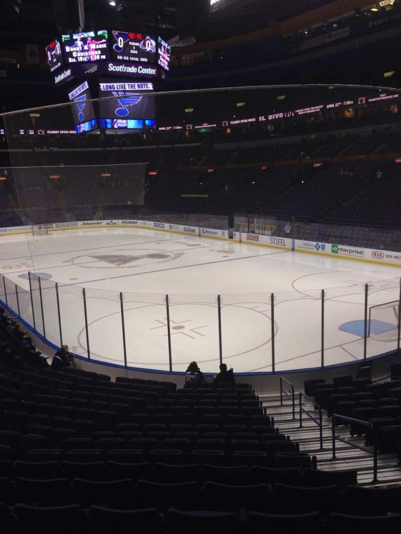 Seating view for Scottrade Center Section 125 Row S Seat 2
