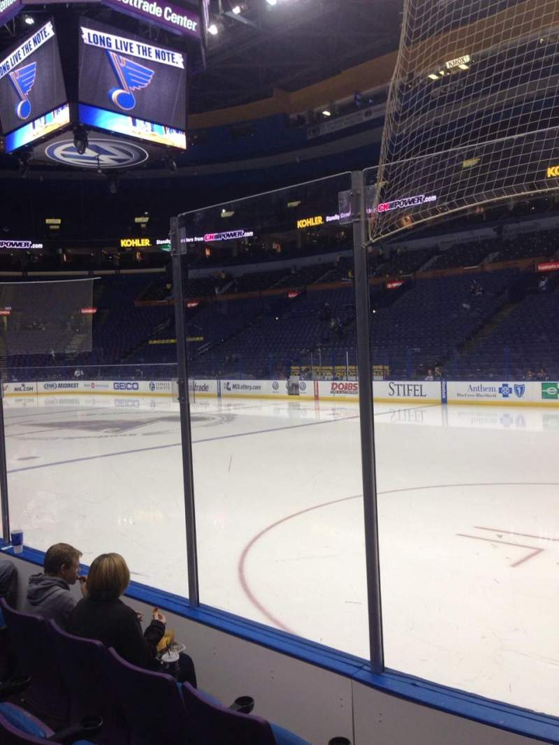 Seating view for Scottrade Center Section 101 Row D Seat 1