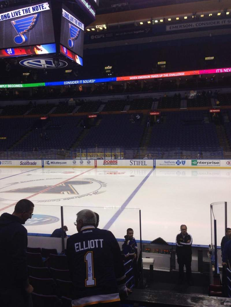 Seating view for Enterprise Center Section 102 Row M Seat 9