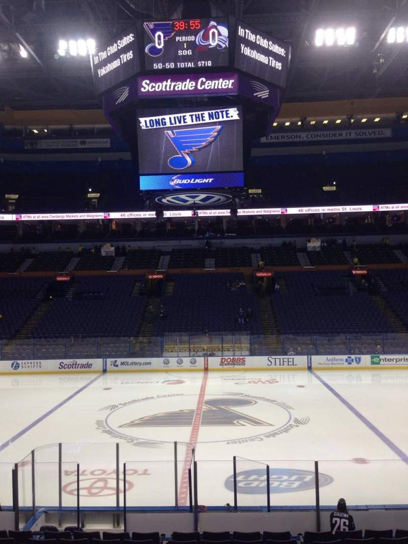 Seating view for Scottrade Center Section 103 Row Q Seat 8