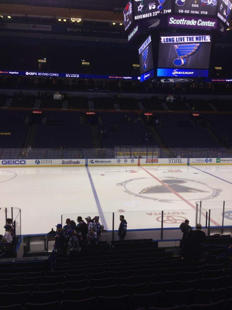 Seating view for Scottrade Center Section 104 Row T Seat 4