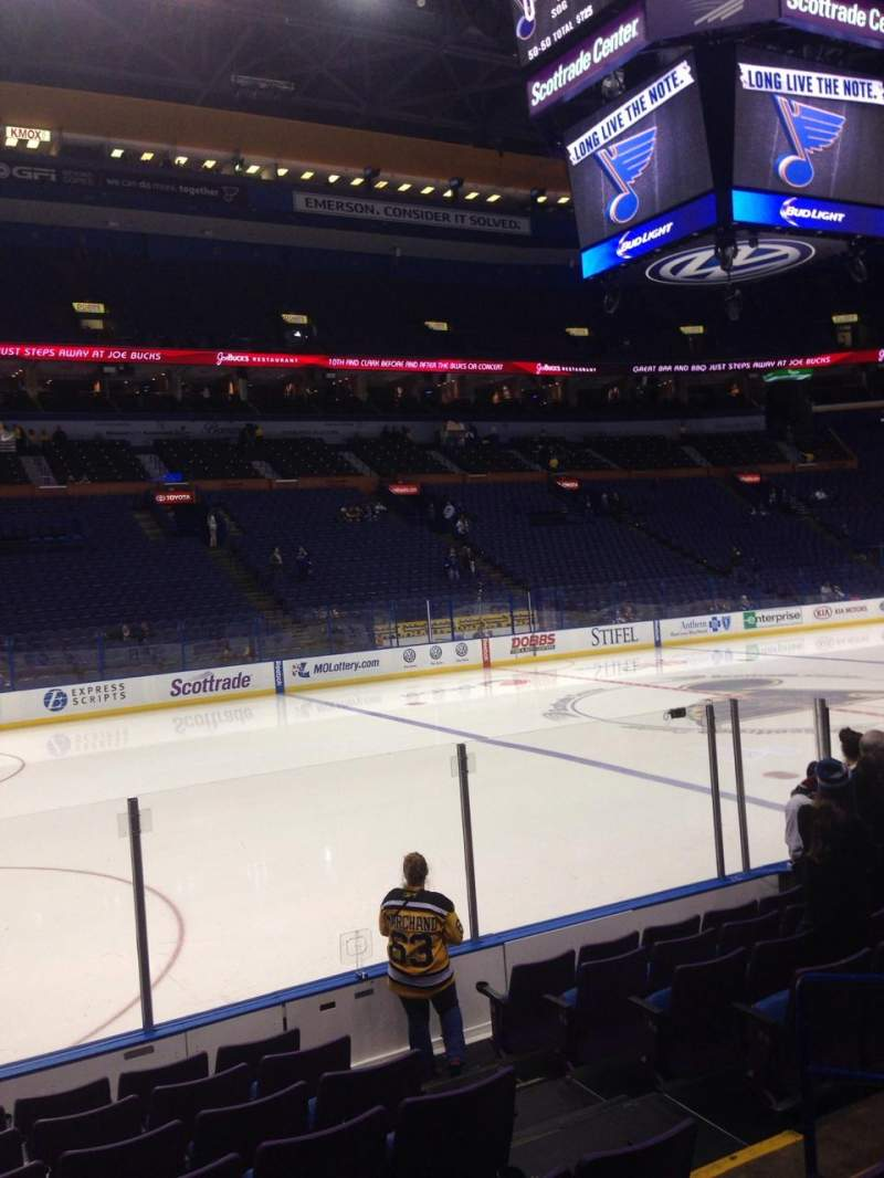Seating view for Enterprise Center Section 105 Row J Seat 5