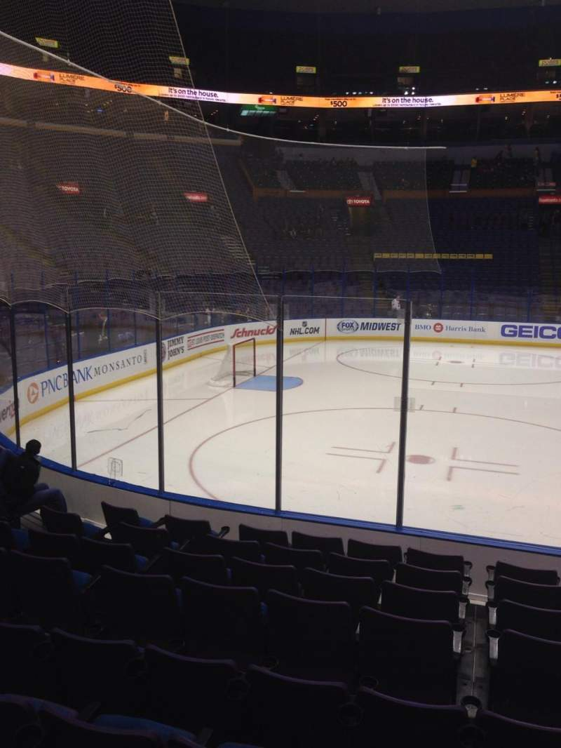 Seating view for Scottrade Center Section 105 Row J Seat 5