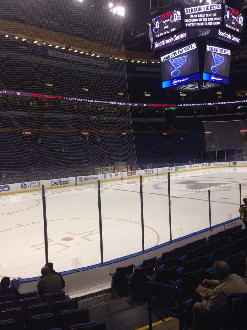Seating view for Scottrade Center Section 106 Row K Seat 3