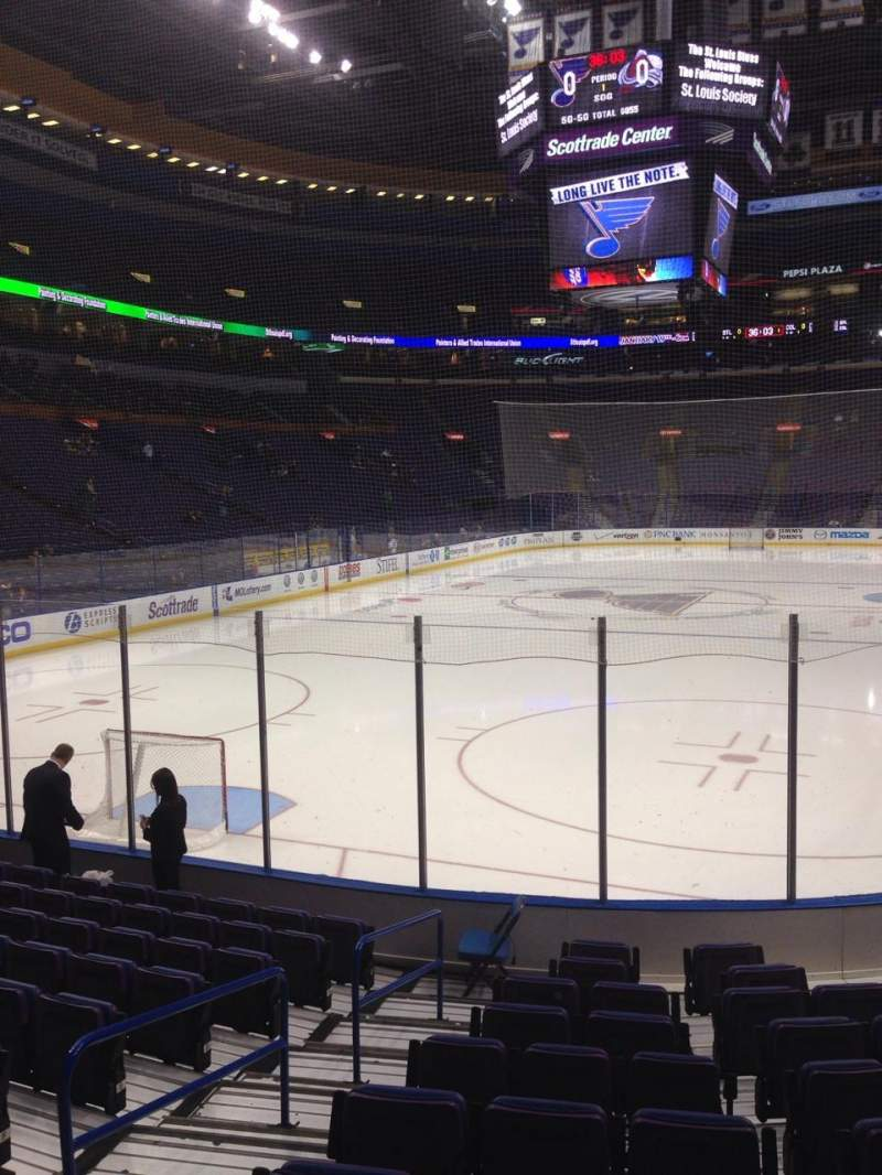 Seating view for Scottrade Center Section 108 Row L Seat 7