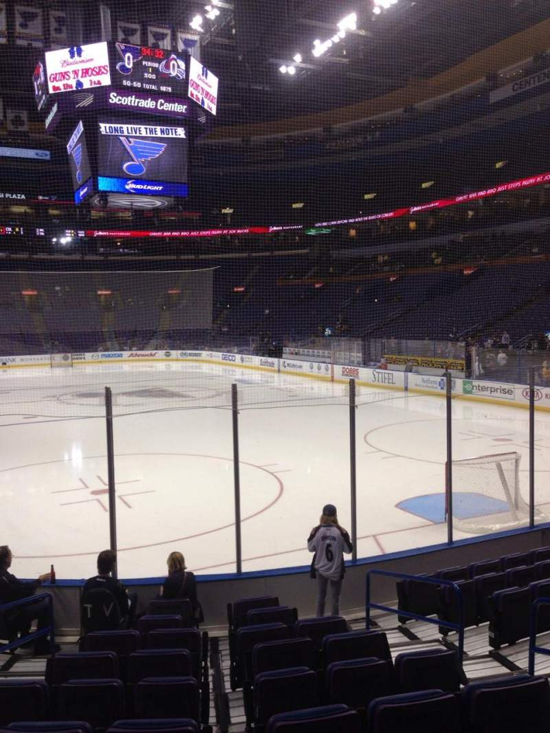 Seating view for Scottrade Center Section 111 Row K Seat 6