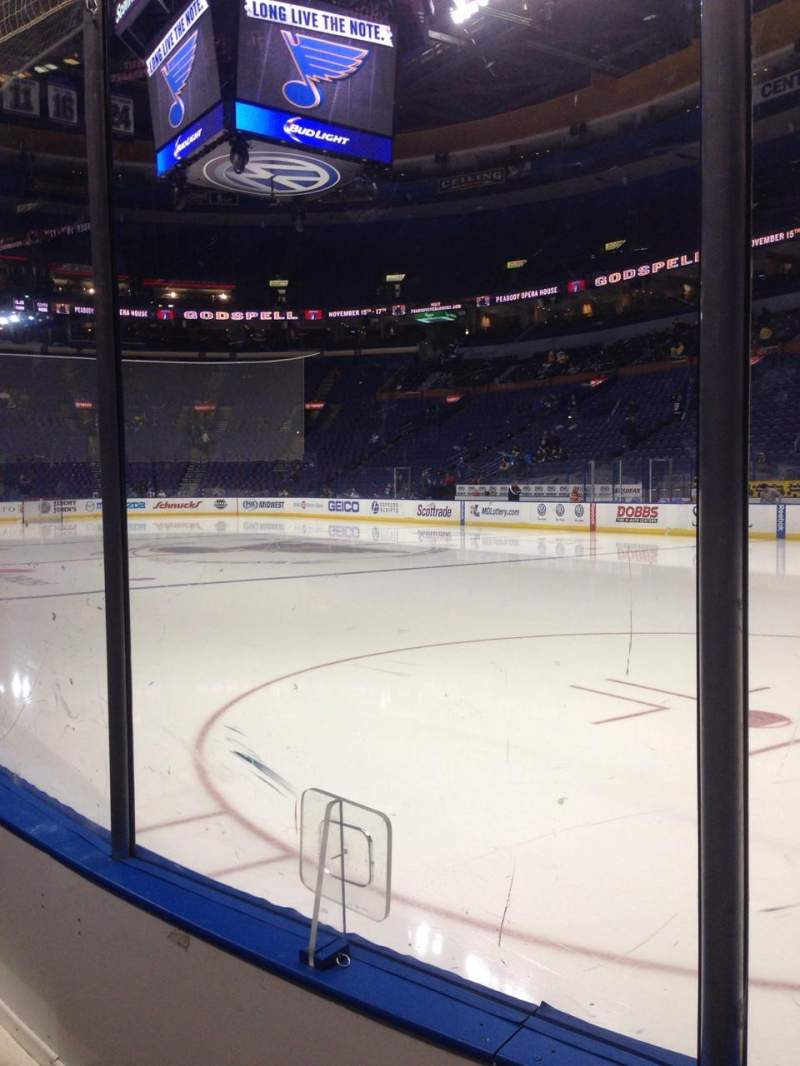 Seating view for Scottrade Center Section 113 Row B Seat 3