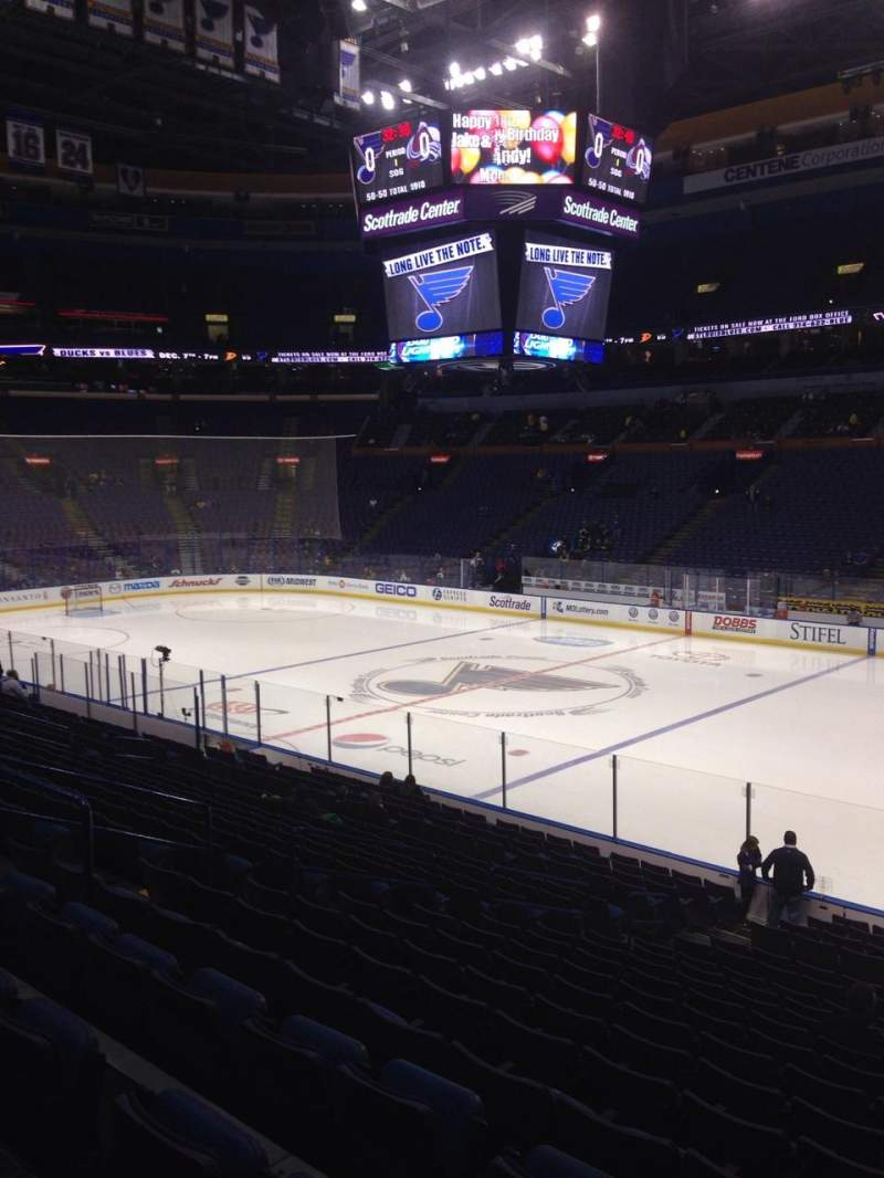 Seating view for Scottrade Center Section 114 Row U Seat 7