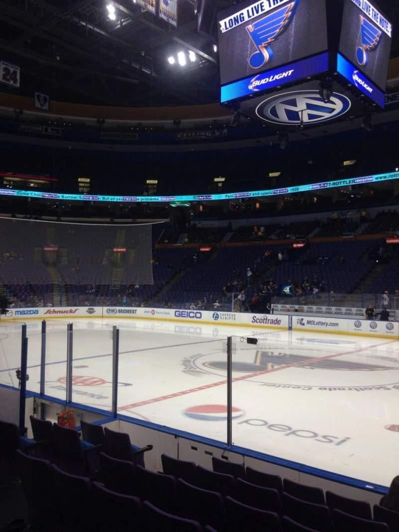 Seating view for Scottrade Center Section 115 Row G Seat 13