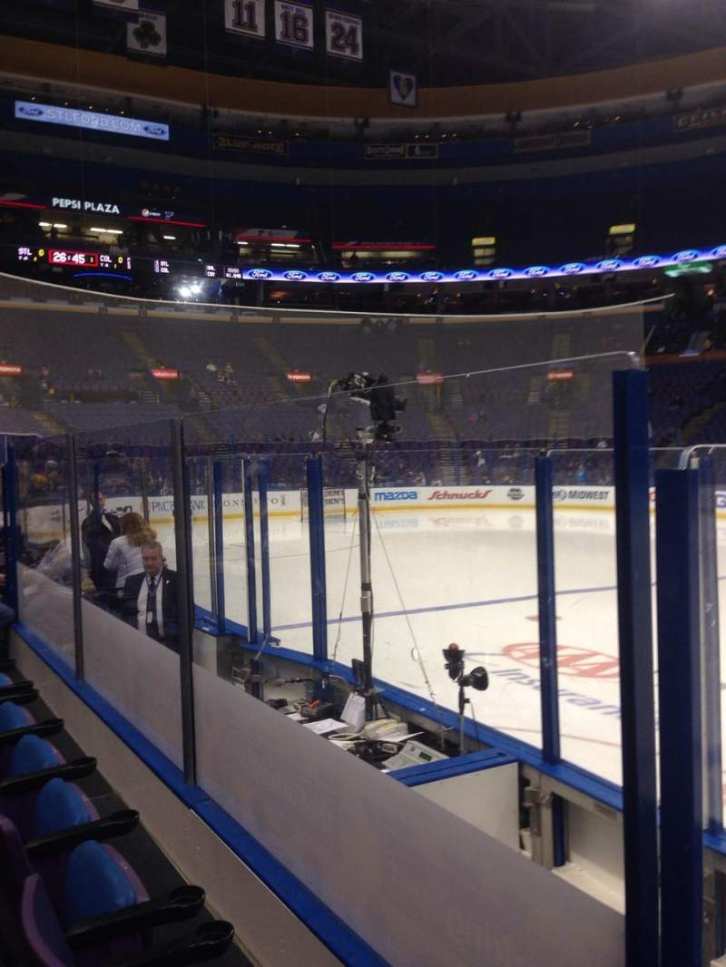 Seating view for Scottrade Center Section 116 Row D Seat 1