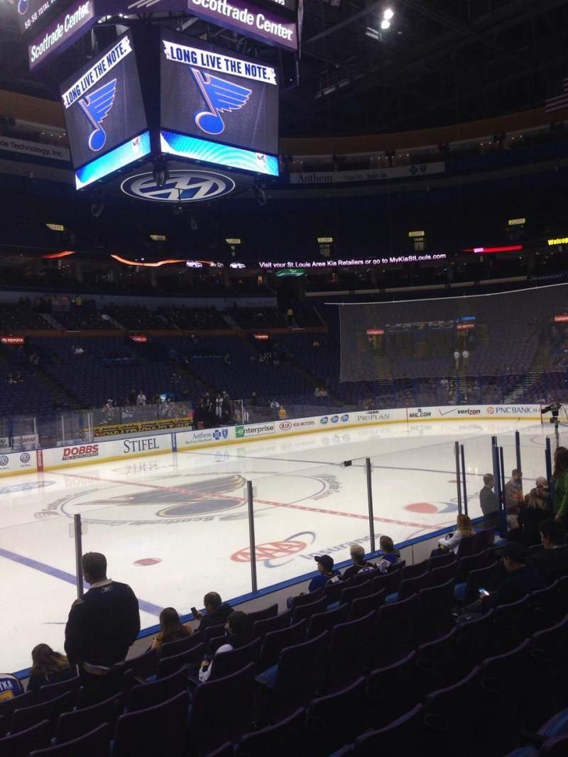 Seating view for Scottrade Center Section 117 Row J Seat 17