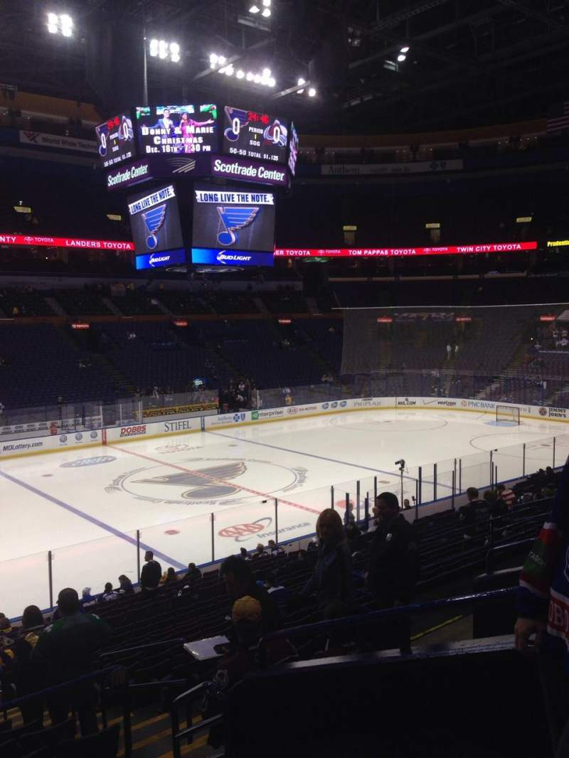 Seating view for Scottrade Center Section 118 Row W Seat 5