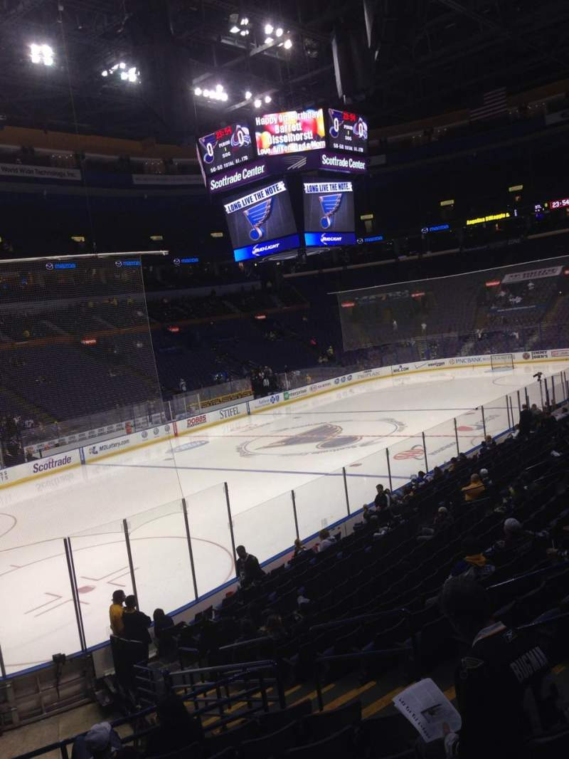 Seating view for Enterprise Center Section 119 Row T Seat 4