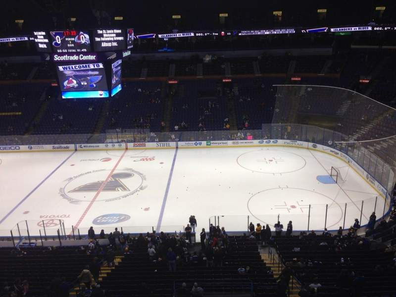 Seating view for Scottrade Center Section 302 Row A Seat 17