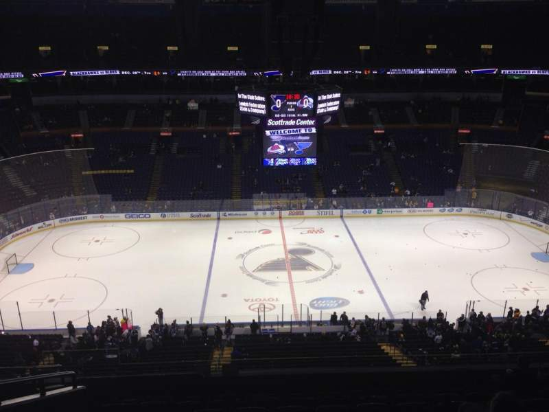 Seating view for Scottrade Center Section 303 Row J Seat 18
