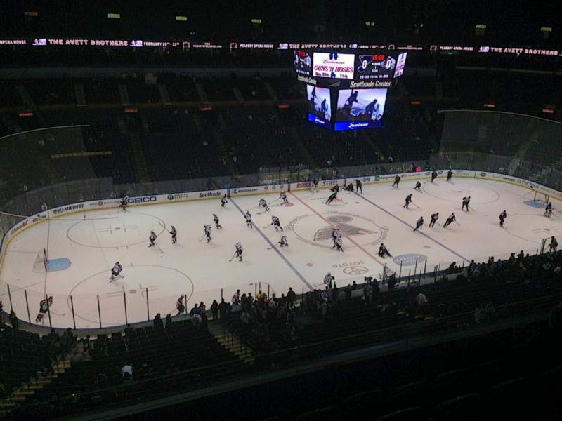 Seating view for Scottrade Center Section 305 Row E Seat 11