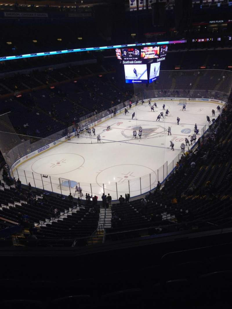 Seating view for Scottrade Center Section 309 Row E Seat 2