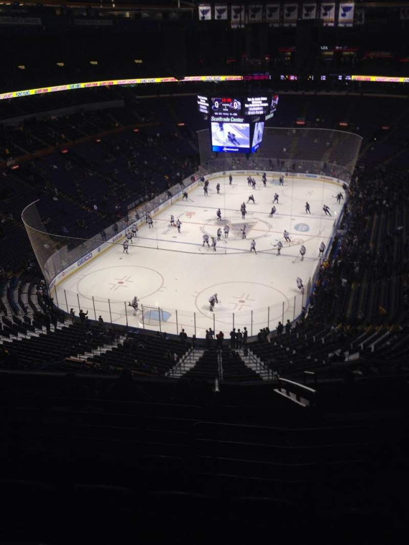 Seating view for Scottrade Center Section 310 Row L Seat 3