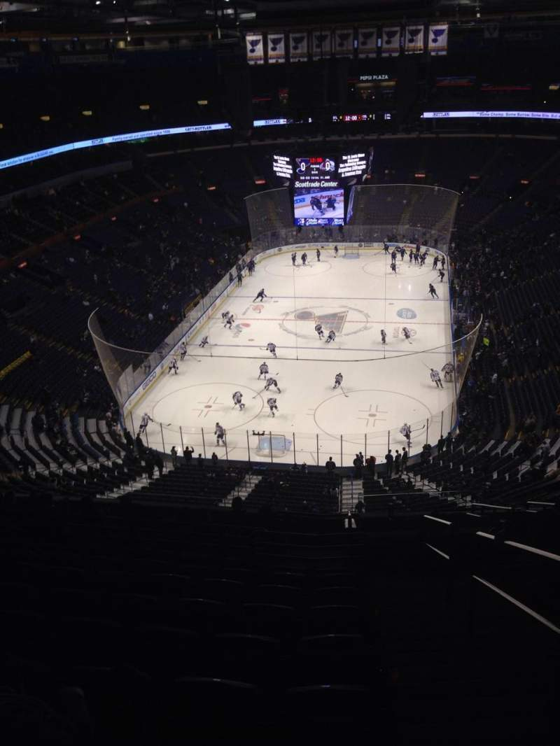 Seating view for Enterprise Center Section 311 Row Q Seat 2