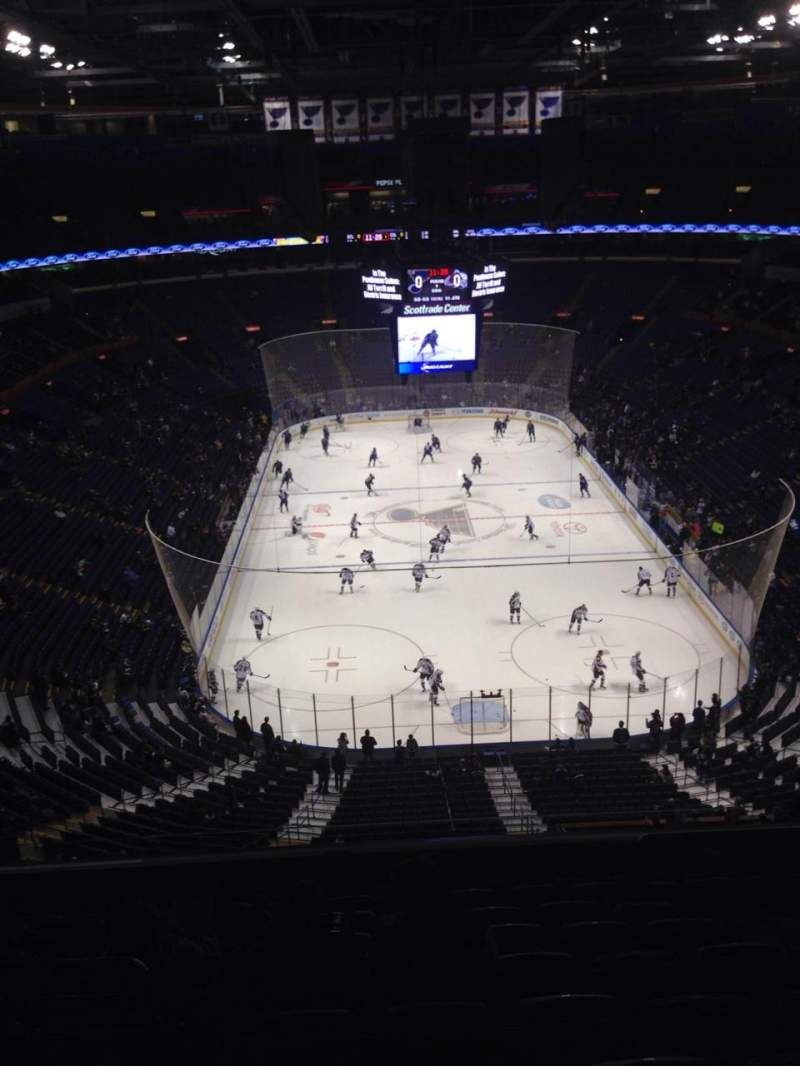 Seating view for Scottrade Center Section 312 Row K Seat 7