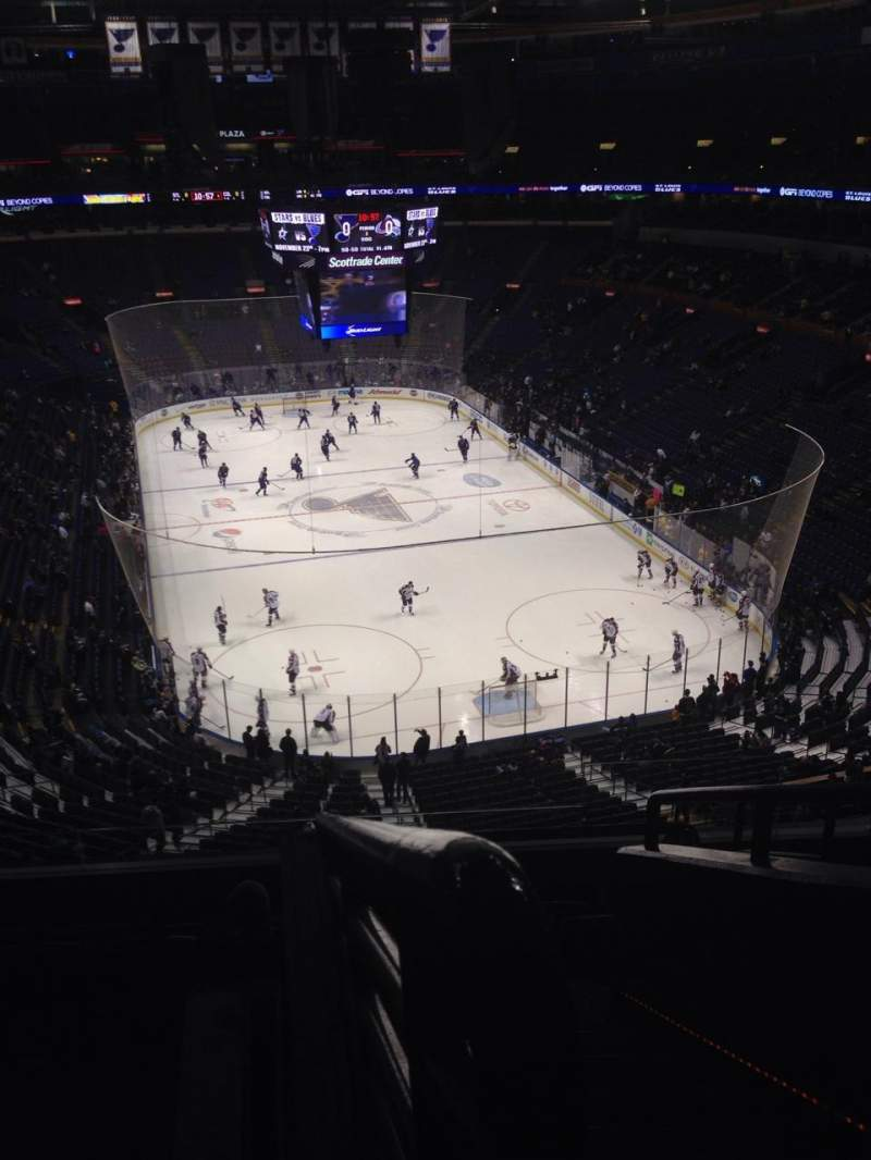 Seating view for Scottrade Center Section 313 Row G Seat 1