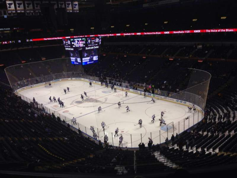 Seating view for Scottrade Center Section 315 Row E Seat 6