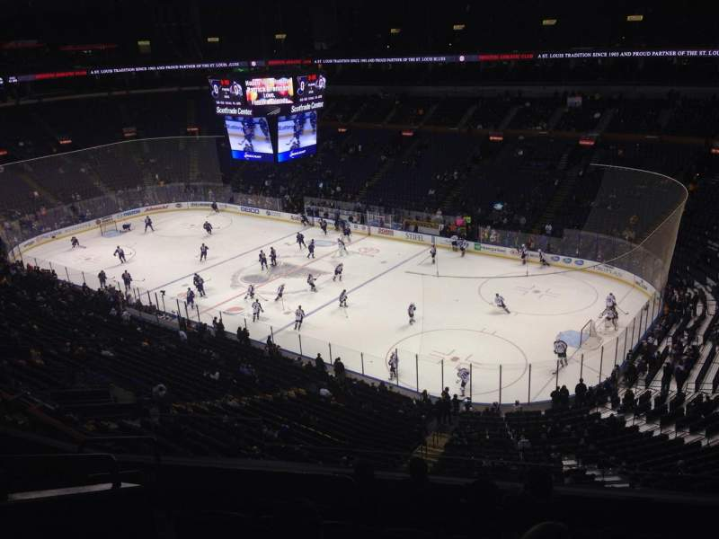 Seating view for Scottrade Center Section 316 Row G Seat 13