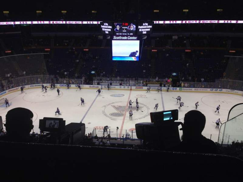 Seating view for Scottrade Center Section 320 Row D Seat 1