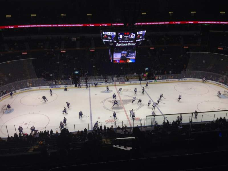 Seating view for Scottrade Center Section 321 Row J Seat 3