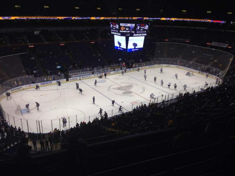 Seating view for Scottrade Center Section 323 Row H Seat 12