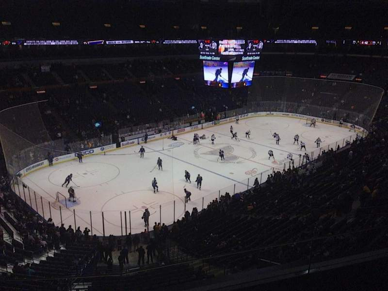 Seating view for Scottrade Center Section 324 Row C Seat 10